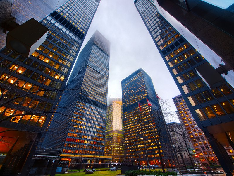 Toronto Downtown Business Building Buildings Rental Colors Photography