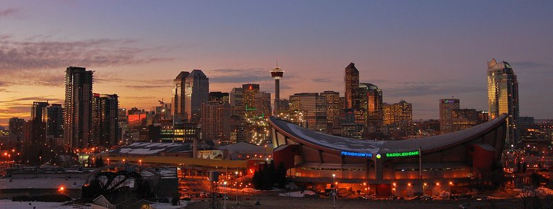 Calgary skyline sunset downtown buildings high rise.jpg