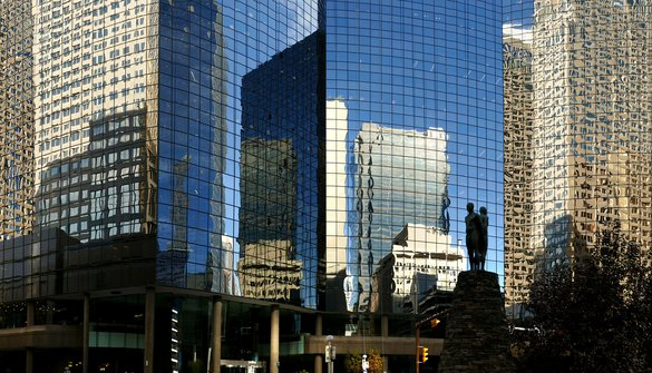 Calgary skyscrapers glass reflection artsy shot downtown rental apartments.jpg