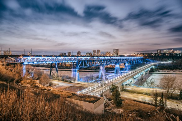 Edmonton bridge night light downtown highway city downtown.jpg