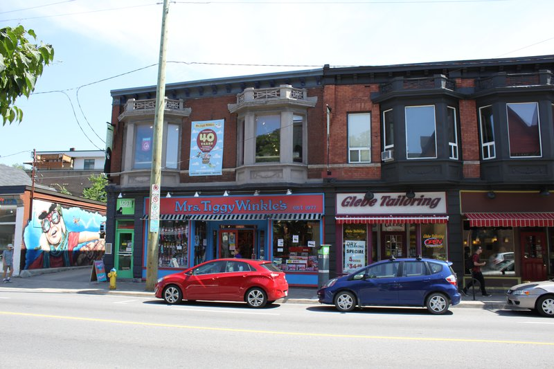 The Glebe Ottawa Neighborhood shopping street strip