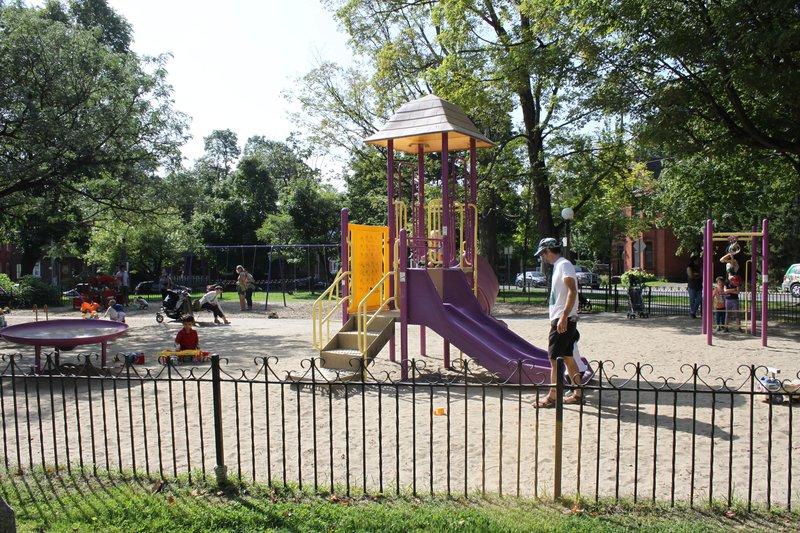 Chinatown Ottawa Neighbourhood Playground Structure Play
