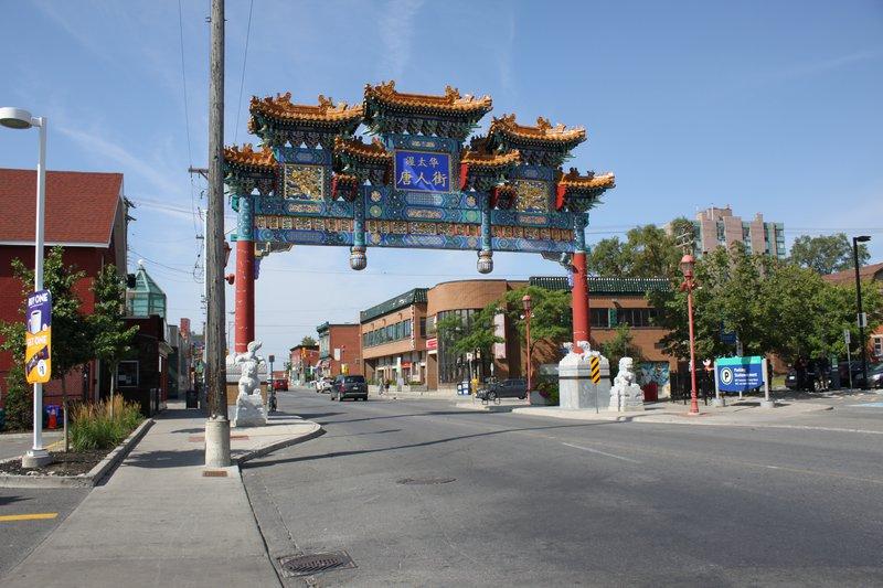 Chinatown Ottawa Neighbourhood Arch Fancy Gold