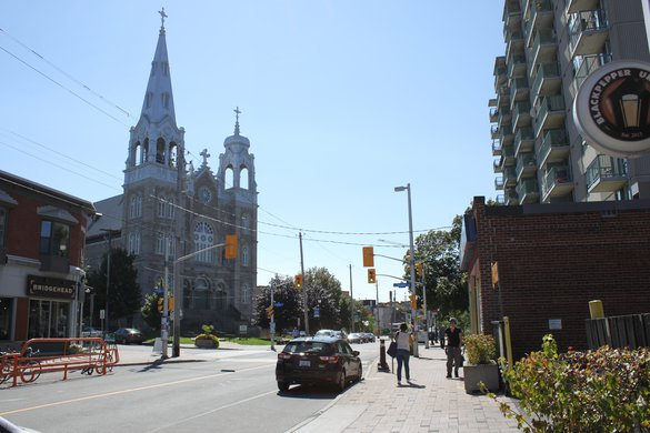 Hintonburg Ottawa Neighborhood street church view