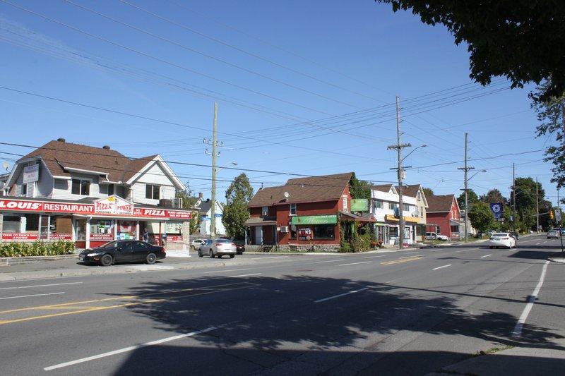 Vanier shopping strip street Ottawa neighborhood