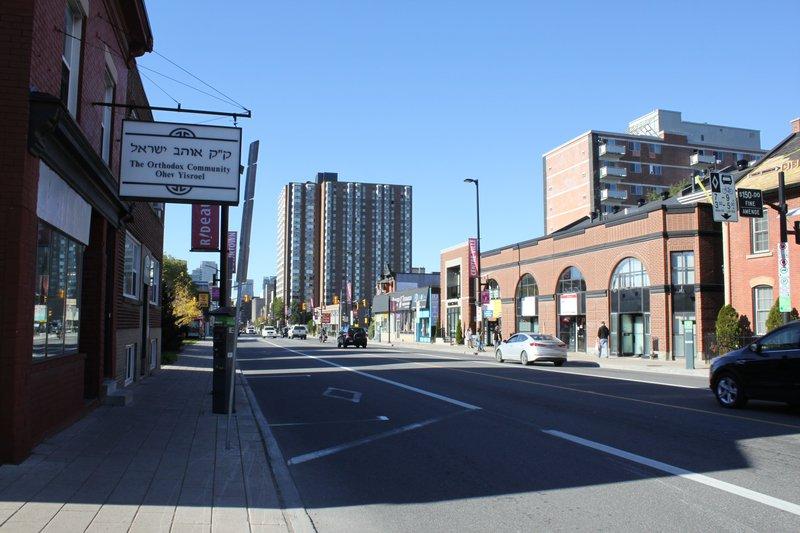 Lowertown Ottawa Neighborhood shopping strip street