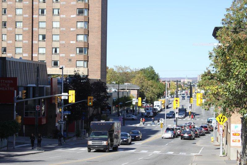 Lowertown Ottawa Neighborhood street bustling transit