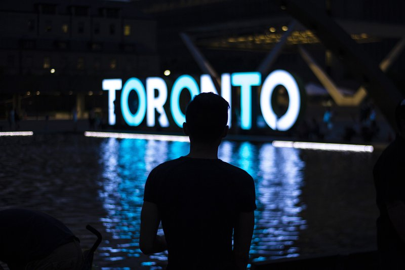 Toronto Sign Downtown Attraction Tourism