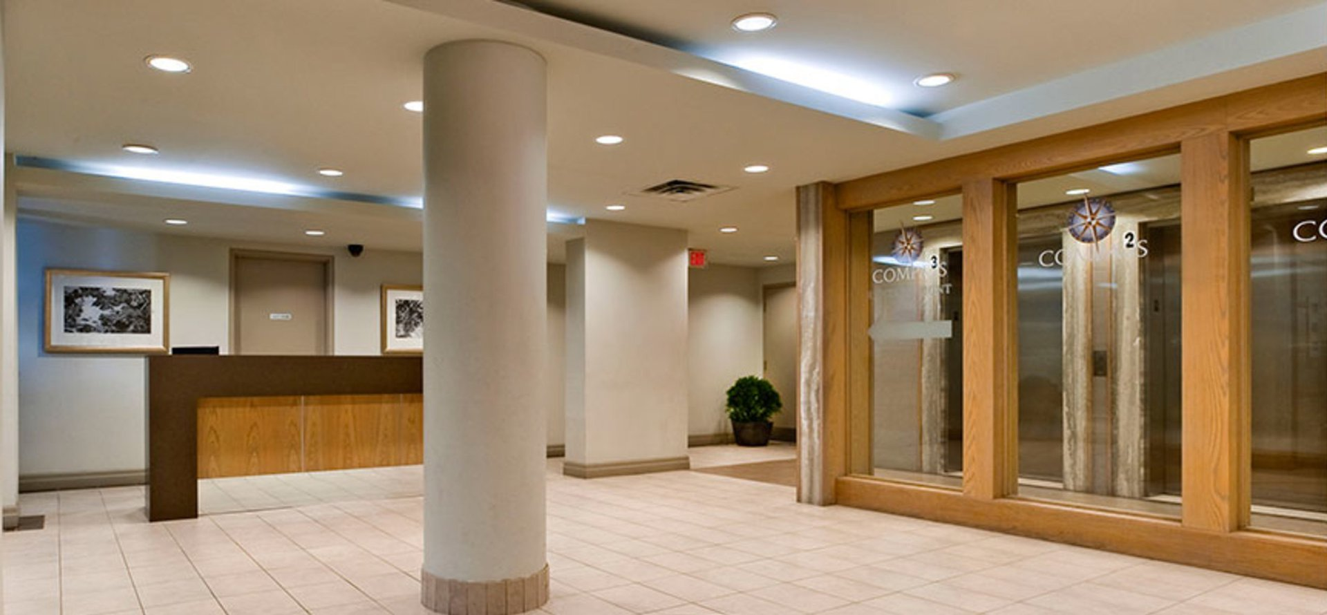 Mid-Rise-Apartment for rent at 64 Bramalea Road, Brampton, ON. This is the foyer entrance with tile floor.