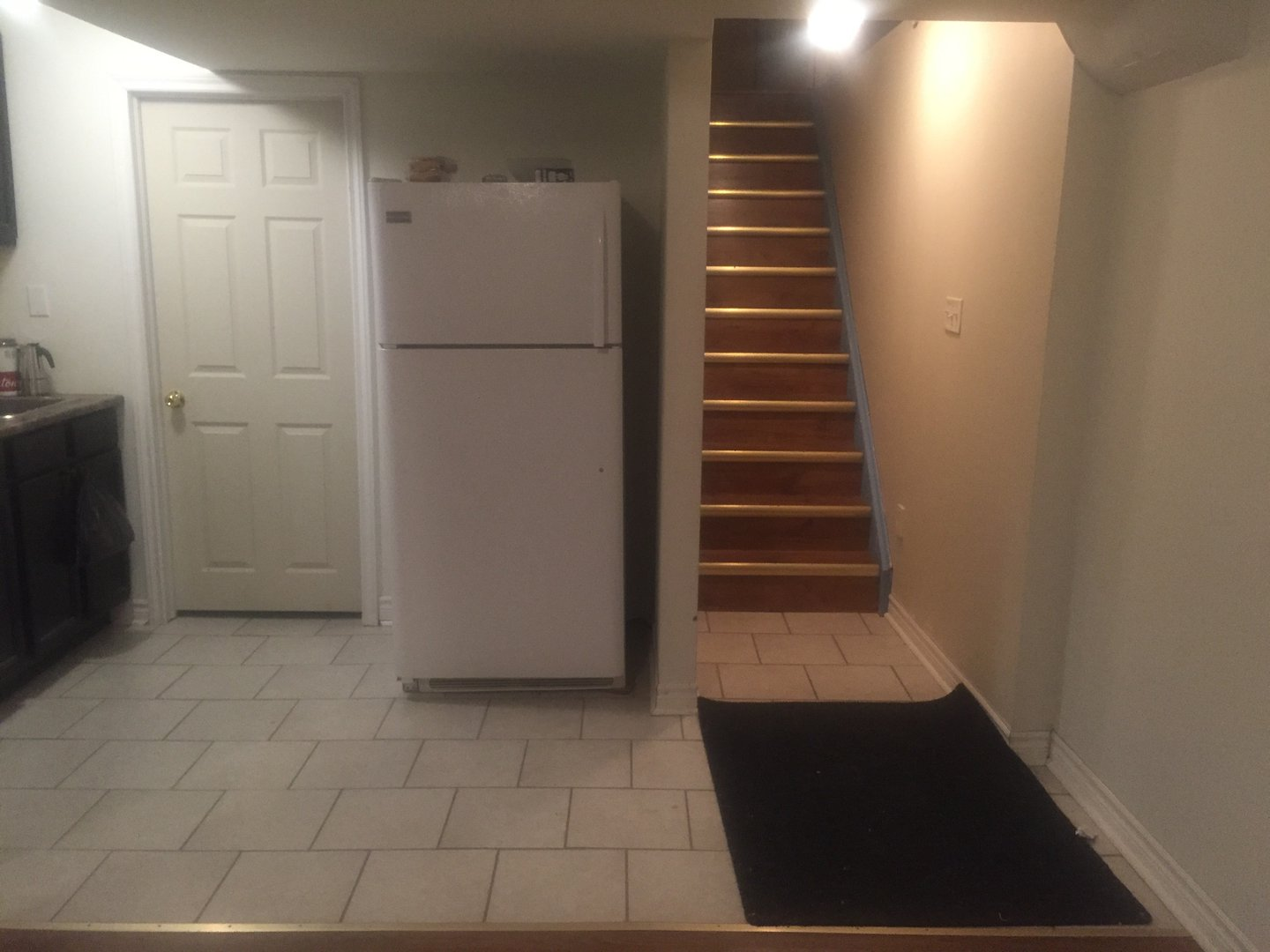 Apartment for rent at 57 Keats Terrace, Brampton, ON. This is the kitchen with tile floor.
