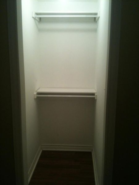 Apartment for rent at 57 Keats Terrace, Brampton, ON. This is the walk in closet pantry with hardwood floor.