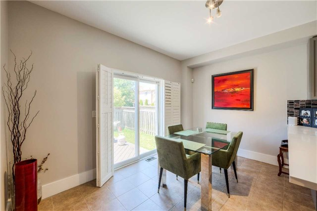 House for rent at 118 Earlsbridge Blvd, Brampton, ON. This is the dining area with natural light and tile floor.