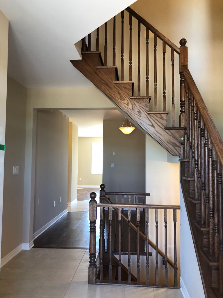 House for rent at 11000 Mississauga Rd | Unit: 66, Brampton, ON. This is the stairs with natural light and tile floor.