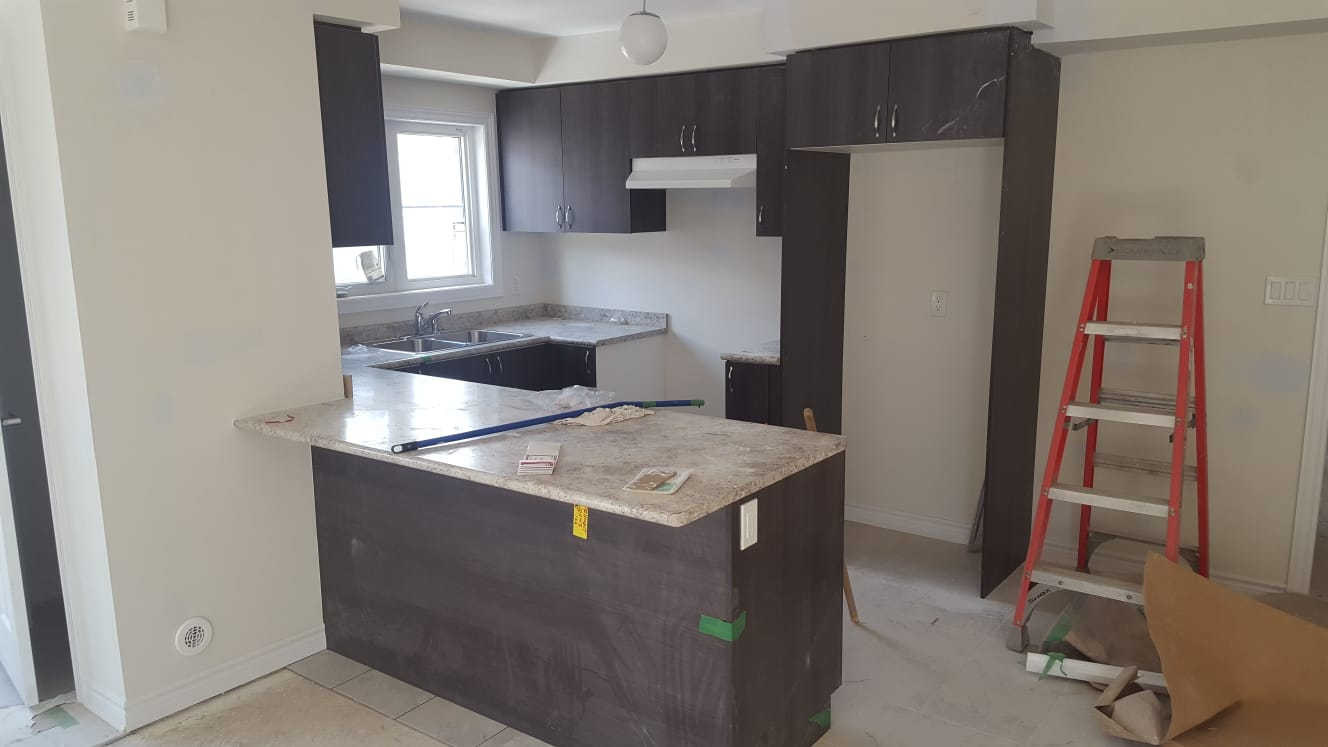 Townhouse for rent at 200 Veterans Drive, Brampton, ON. This is the kitchen with natural light and tile floor.
