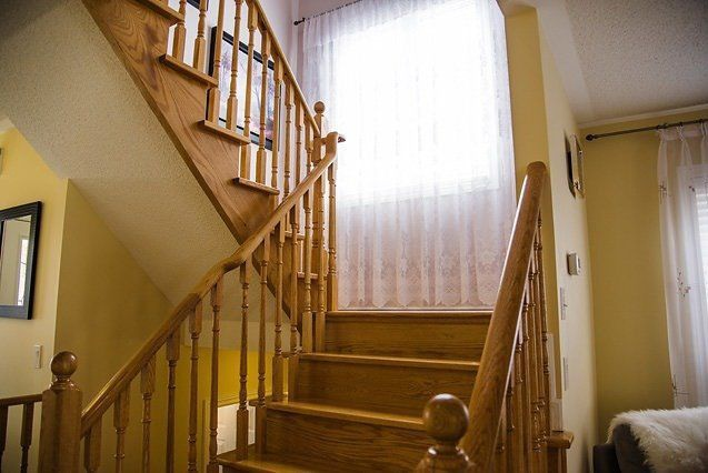 House for rent at 96 Aylesworth Ave, Courtice, ON. This is the stairs with natural light.