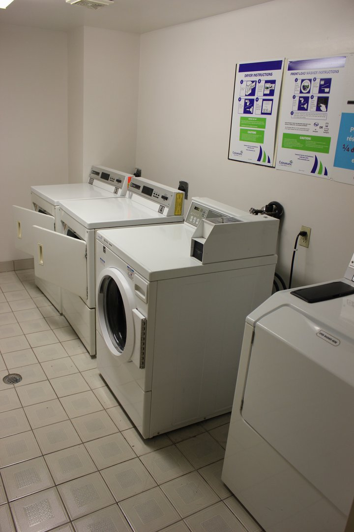 Apartment for rent at 96 Highfield Park Drive B, Dartmouth, NS. This is the laundry room with tile floor.