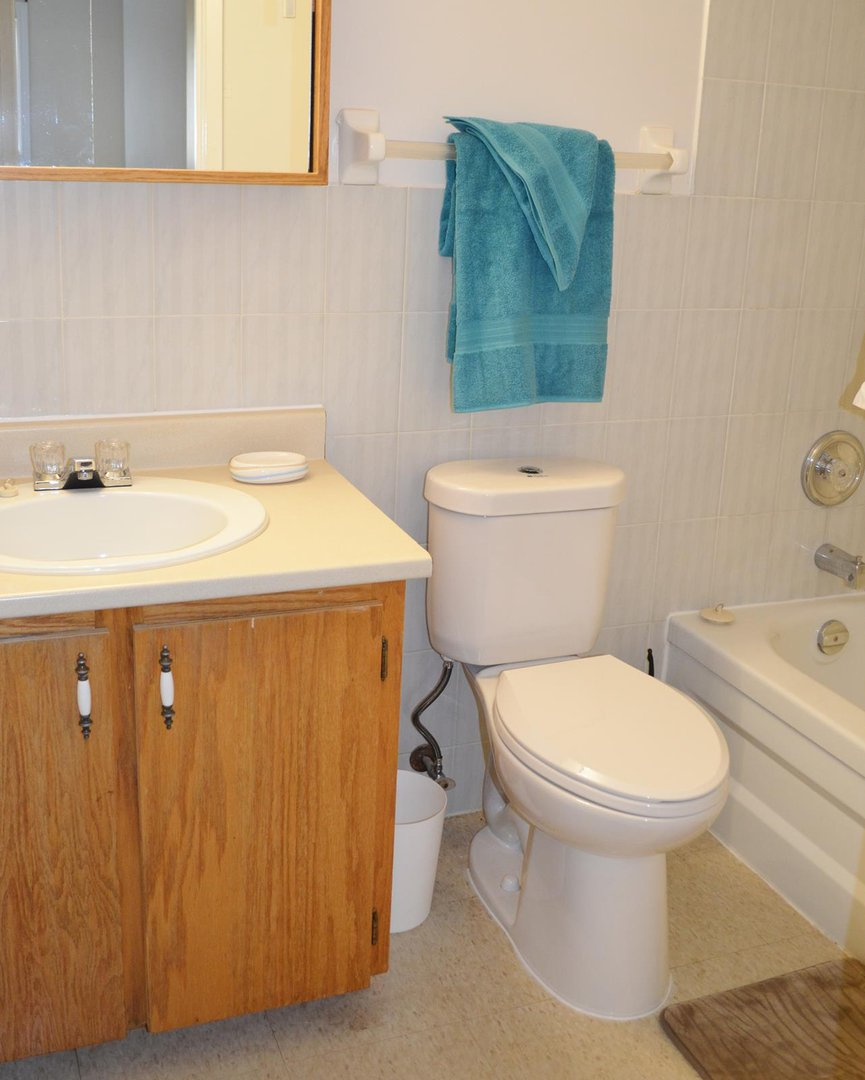 Apartment for rent at 96 Highfield Park Drive G, Dartmouth, NS. This is the bathroom with carpet.