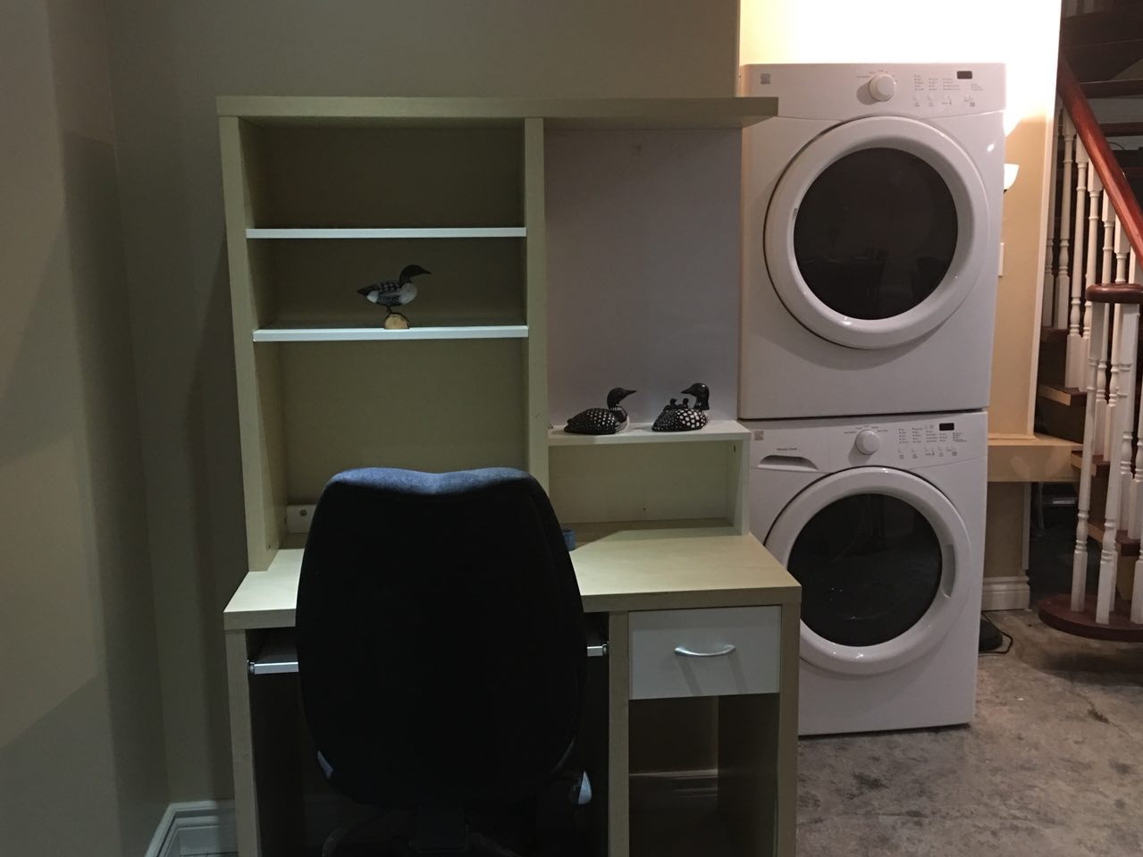Basement for rent at 20560 Yonge St | Unit: Lower, East Gwillimbury, ON. This is the laundry room with tile floor.