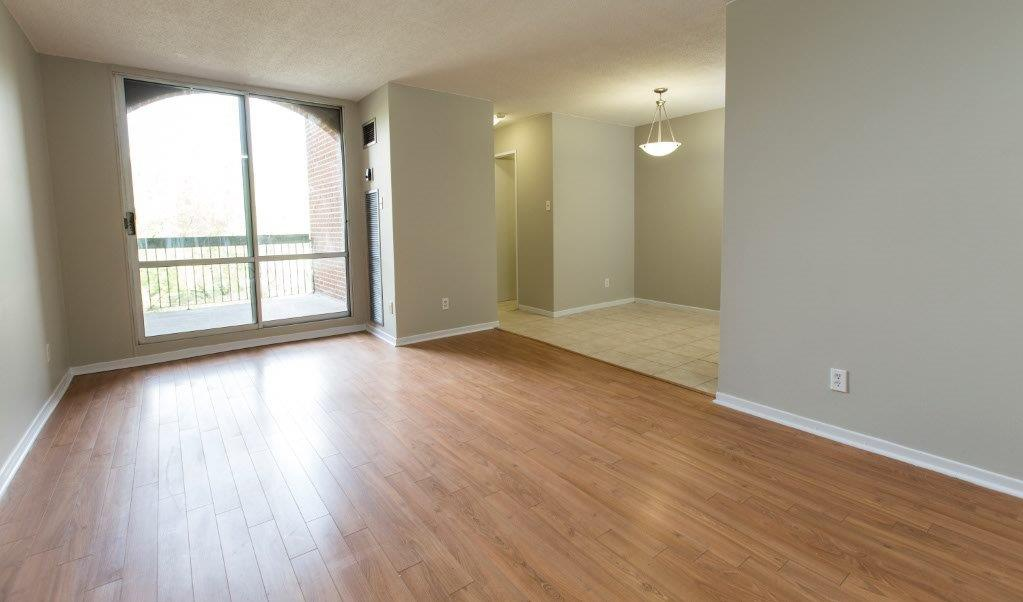 Apartment for rent at 7170, 7230, 7280 Darcel Ave, Etobicoke, ON. This is the empty room with hardwood floor, tile floor and natural light.