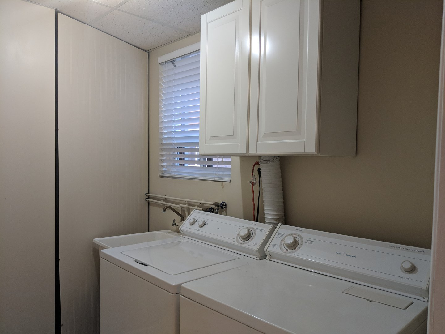 House for rent at 1162 Kipling Ave | Unit: upper, Etobicoke, ON. This is the laundry room with natural light.