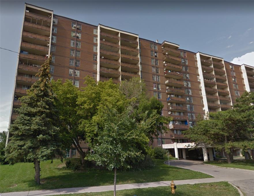 Apartment for rent at 40 Stevenson Rd, Etobicoke, ON. This is the outdoor building with lawn.