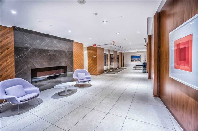 Condo for rent at 9 Valhalla Inn Road, Etobicoke, ON. This is the corridor with tile floor and hardwood floor.