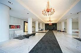 Condo for rent at 88 Park Lawn Road, Etobicoke, ON. This is the pool with notable chandelier.