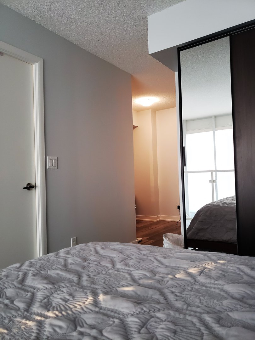 Condo for rent at 155 Legion Rd N, Etobicoke, ON. This is the bedroom with natural light.