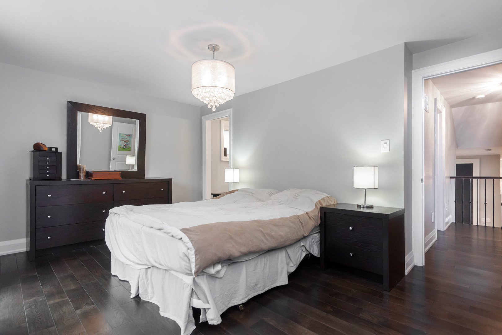 House for rent at 84 Laurel Avenue, Etobicoke, ON. This is the bedroom with hardwood floor.