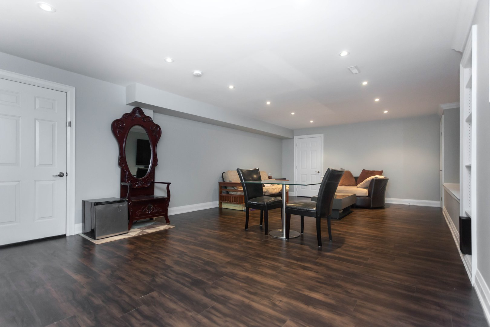 House for rent at 84 Laurel Avenue, Etobicoke, ON. This is the dining area with hardwood floor.