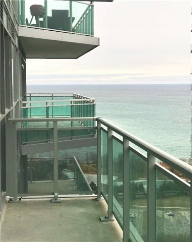 Condo for rent at 33 Shore Breeze Drive, Etobicoke, ON. This is the patio terrace with water view.