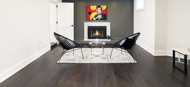 House for rent at 25 Burnhamthorpe Park Blvd, Etobicoke, ON. This is the dining area with fireplace and hardwood floor.