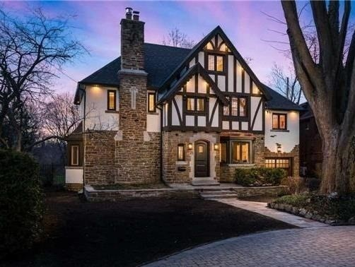 House for rent at 25 Burnhamthorpe Park Blvd, Etobicoke, ON in tudor style. This is the front of the house.