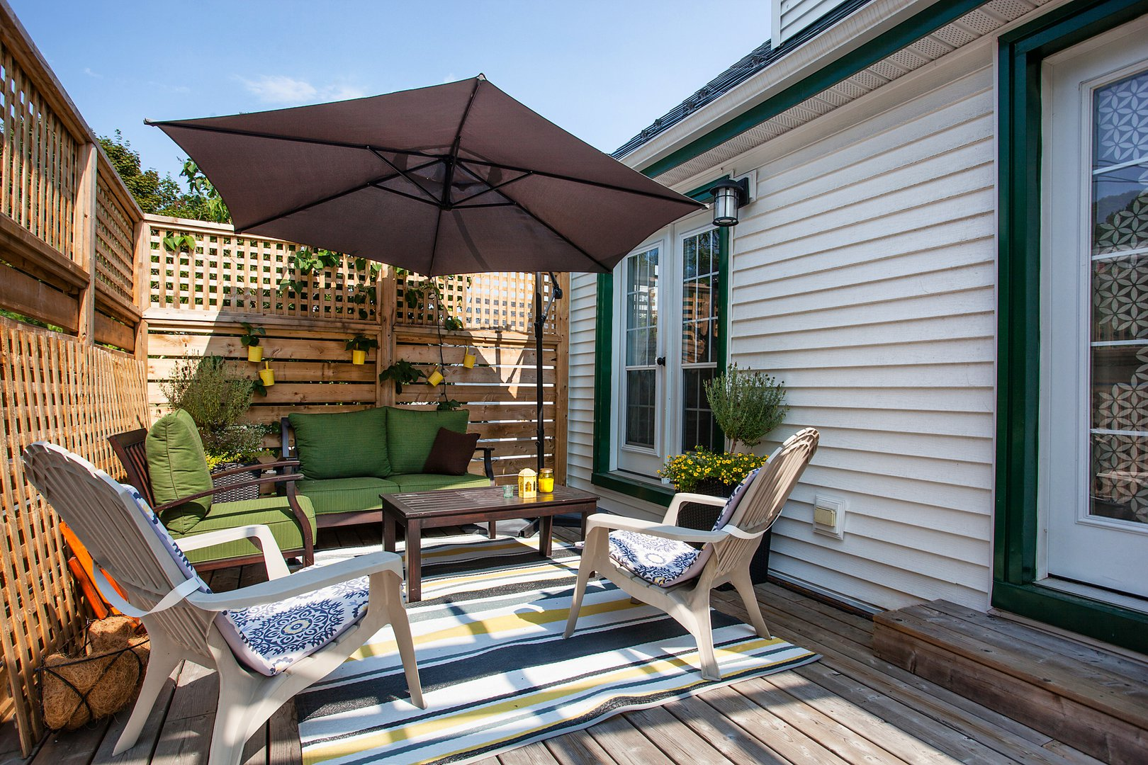 Apartment for rent at 3204 Veith St, Halifax, NS. This is the patio terrace with deck and outdoor living space.