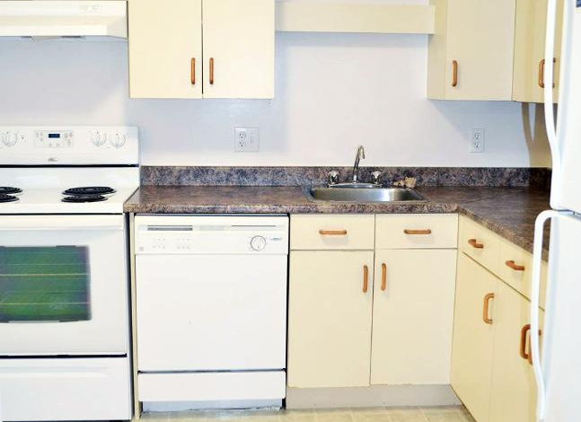 Apartment for rent at 96 Highfield Park Drive, Halifax, NS. This is the kitchen with tile floor.