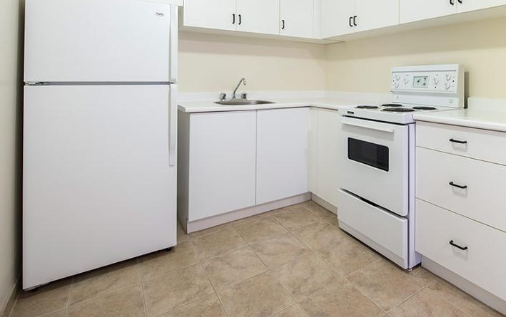 Apartment for rent at 5651 Ogilvie Street, Halifax, NS. This is the kitchen with tile floor.