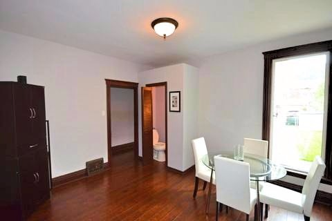 Apartment for rent at 17 Gladstone Ave, Hamilton, ON. This is the office with hardwood floor and natural light.