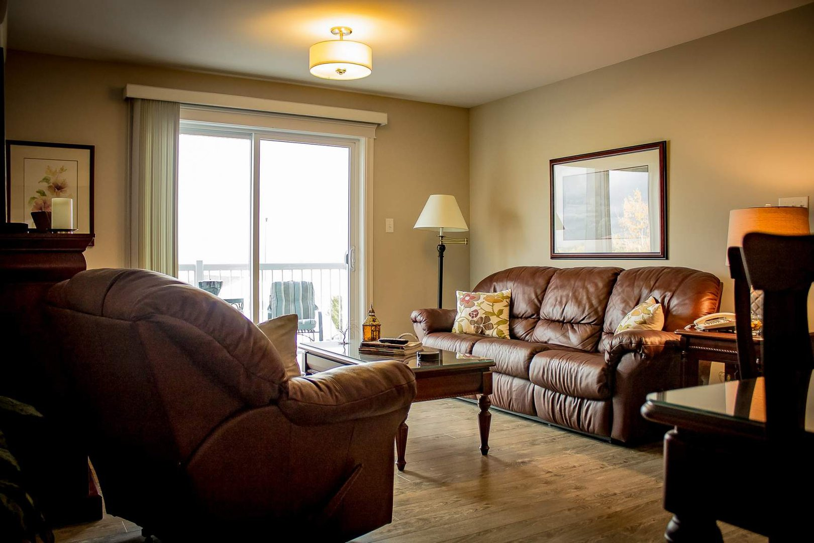 Mid-Rise-Apartment for rent at 747 Coverdale Road, Moncton, NB. This is the living room with natural light.