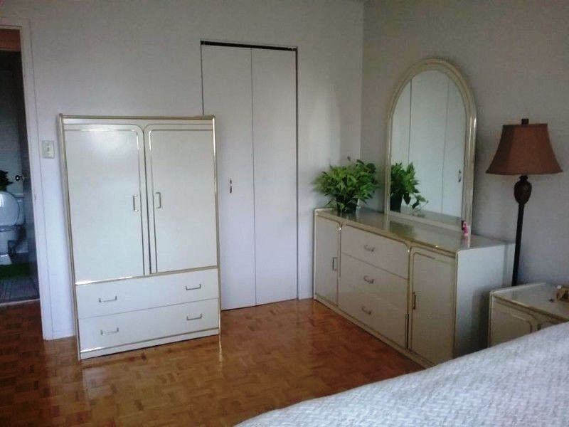 Apartment for rent at 10500, Acadie, Montréal, QC. This is the bedroom with hardwood floor.