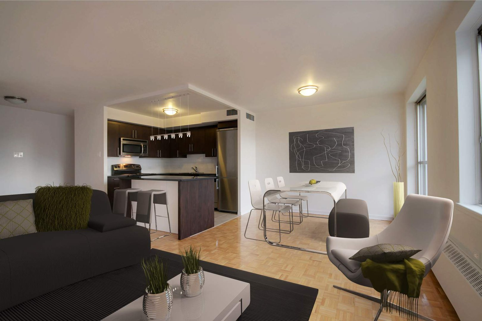 High-Rise-Apartment for rent at 1100  ave Dr. Penfield, Montréal, QC.