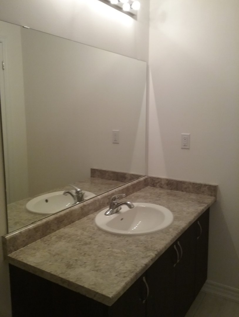 House for rent at 1710 Rex Heath Drive, Pickering, ON. This is the bathroom with tile floor.