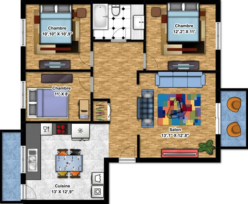Apartment for rent at 625,675, rue, Québec City, QC. This is the plan.