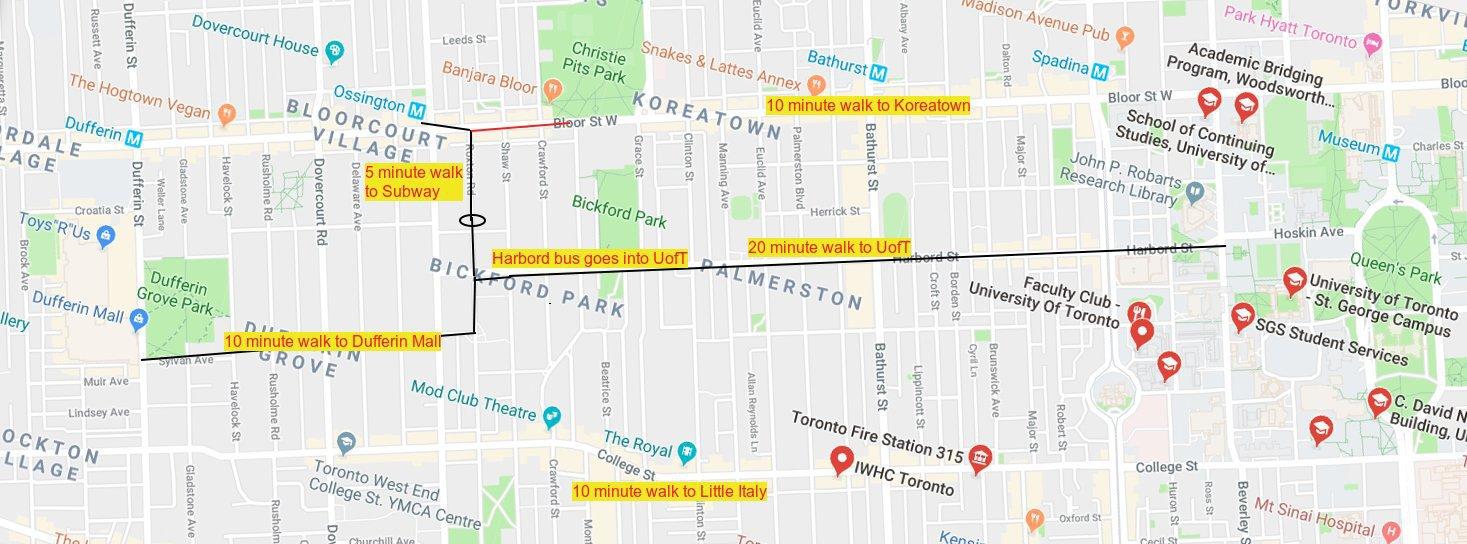 Subway Map Rent.Rentals Ca 465 Roxton Road Toronto On For Rent
