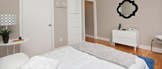 Apartment for rent at 373 Lafontaine Street, Vanier, ON. This is the bedroom with hardwood floor.
