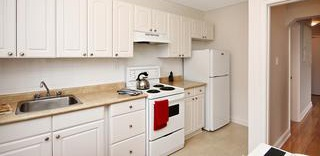 Apartment for rent at 377 Lafontaine Street, Vanier, ON. This is the kitchen with hardwood floor.