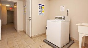Apartment for rent at 377 Lafontaine Street, Vanier, ON. This is the laundry room with tile floor.