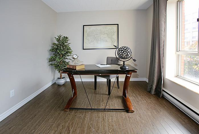 Not Sure for rent at 3445 Riverside Drive East, Windsor, ON. This is the office with natural light and hardwood floor.