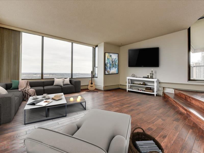 Condo for rent at 8220 Jasper Avenue, Edmonton, AB.